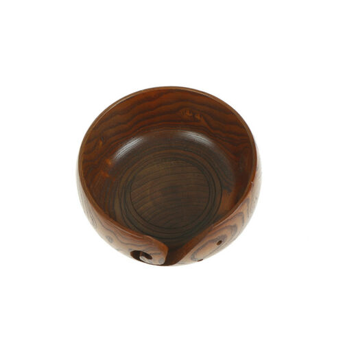 Wooden Yarn Bowl Holder Handcrafted Gift For Skeins Knitting Crocheting VH