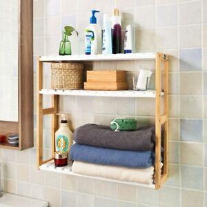 SoBuy® Etagère/Meuble murale de Rangement Cuisine/salle de bain/WC ...