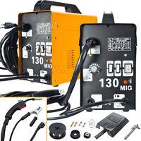 Gas Less Mig Welder Auto Flux Core Wire Feed Welding Machine Diy Mig130 W/ Mask
