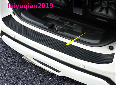 carbon fiber Rear trunk Guards Scuff Plate cover For Honda Fit  Jazz 2014-2018