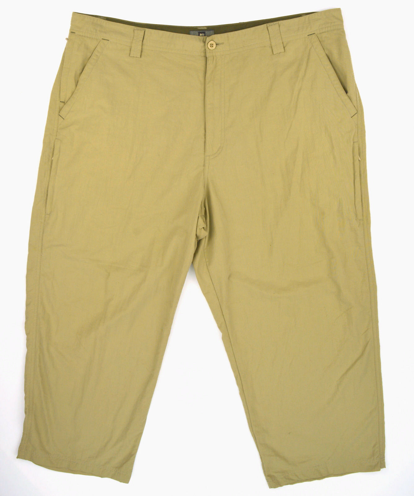 REI Mens Beige 100% Nylon UPF 40+ Camping Hiking Outdoor Pants  Sz 42x27