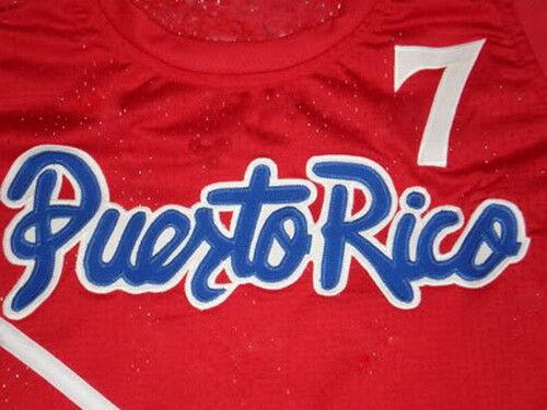 CUSTOM NAME// # TEAM PUERTO RICO BASKETBALL JERSEY CARLOS ARROYO SEWN ANY SIZE