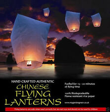 10 Sky lanterns Chinese Khoom Fay UK seller, (white)