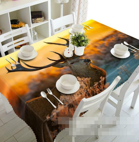3D Antelope 52 Tablecloth Table Cover Cloth Birthday Party Event AJ WALLPAPER AU