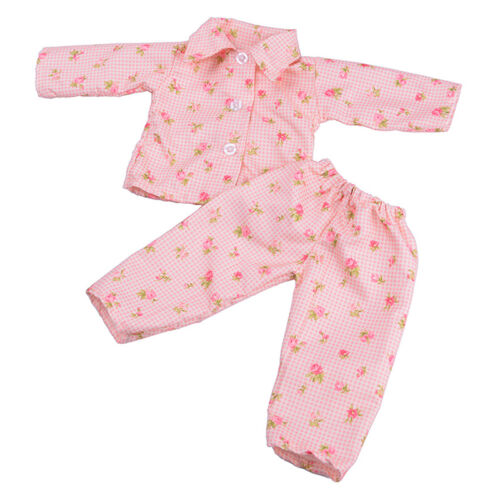 Handmade Doll Clothes Pajamas Sleepwear for 18 inch  Girl Doll Colorful