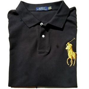 76bbffe44f NEW W TAGS - POLO Ralph Lauren Big GOLD Pony Men s Polo Shirt ...