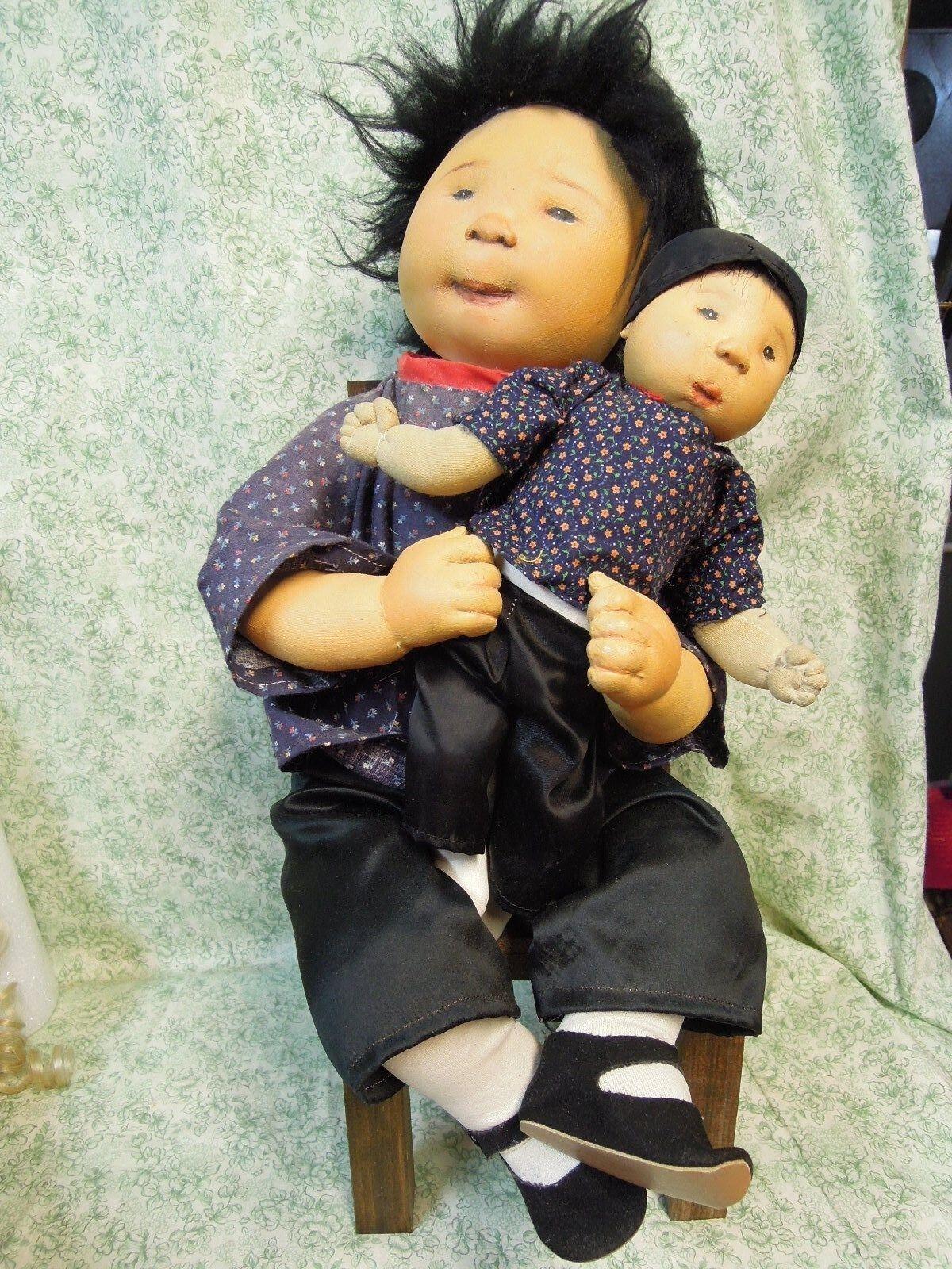 Den-90  DIANNE DENGEL orig. dolls;  SIBLINGS  - OOAK by Dianne; 13  & 11