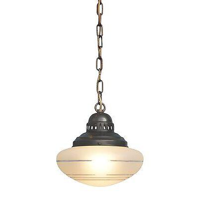 Tolle original Jugendstil Deckenlampe Hängelampe Deckenleuchte ätzmattiert
