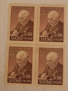 Finland-Stamp-246-Block-of-4-Unused-NG