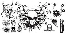 Steampunk Gothic Stamping Schablone MD 30 Platte Plate Nailart Nageldesign Nail
