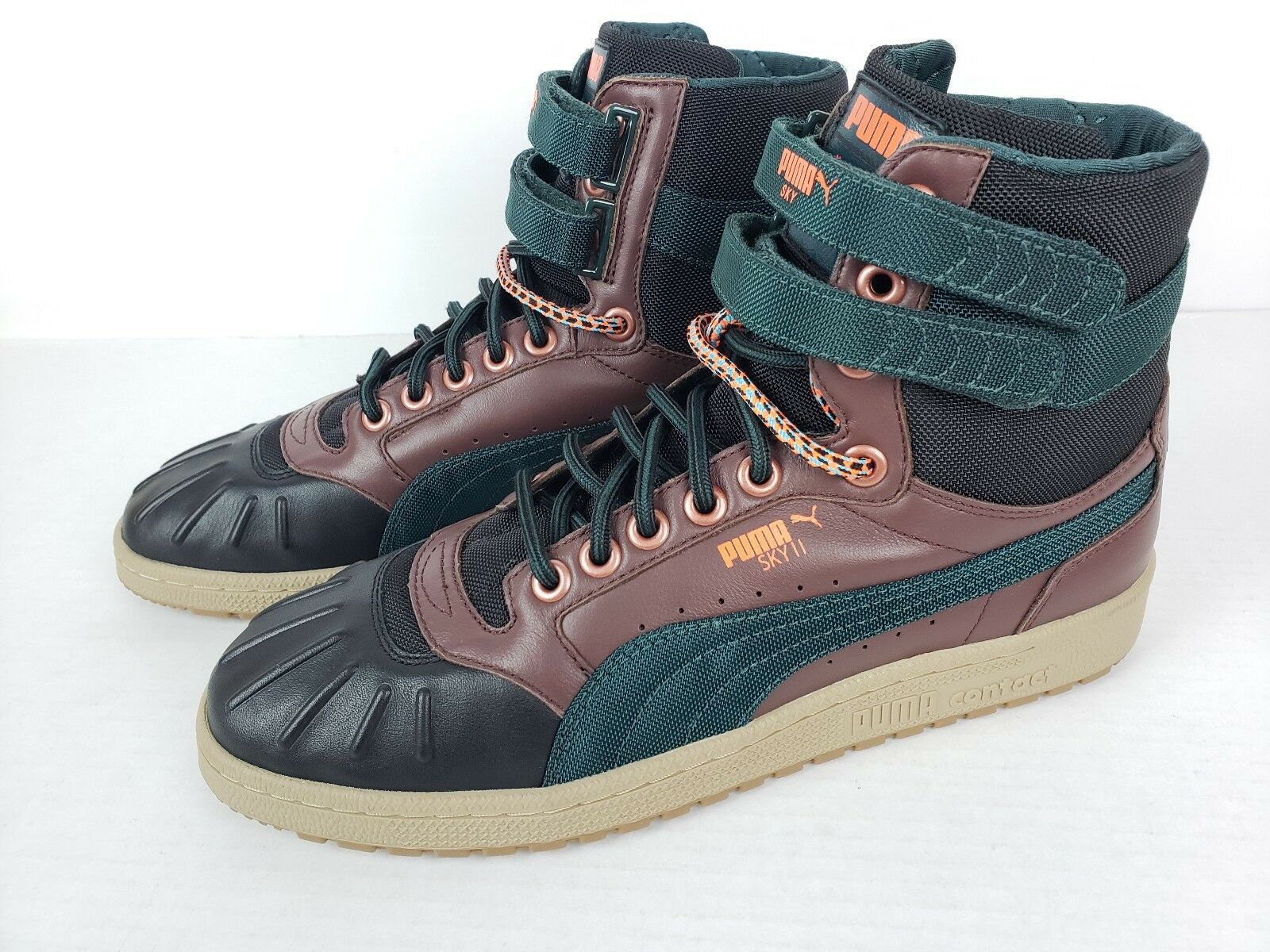 Puma Sky II High Duck Winter Sneakers Boot Brown Green Black Mens Size 10.5