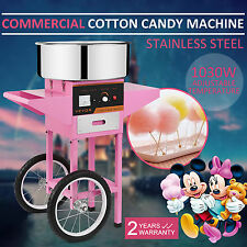 New Electric Sugar Floss Machine Commercial Cotton Candy Maker Pink + CART
