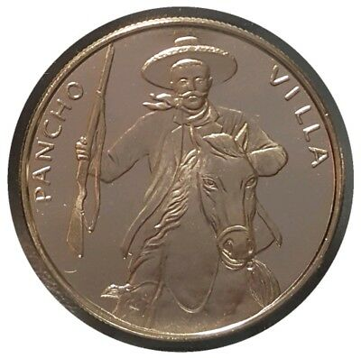 PANCHO VILLA MEXICO CLAD COIN FROSTY DEVICES MIRROR FIELDS