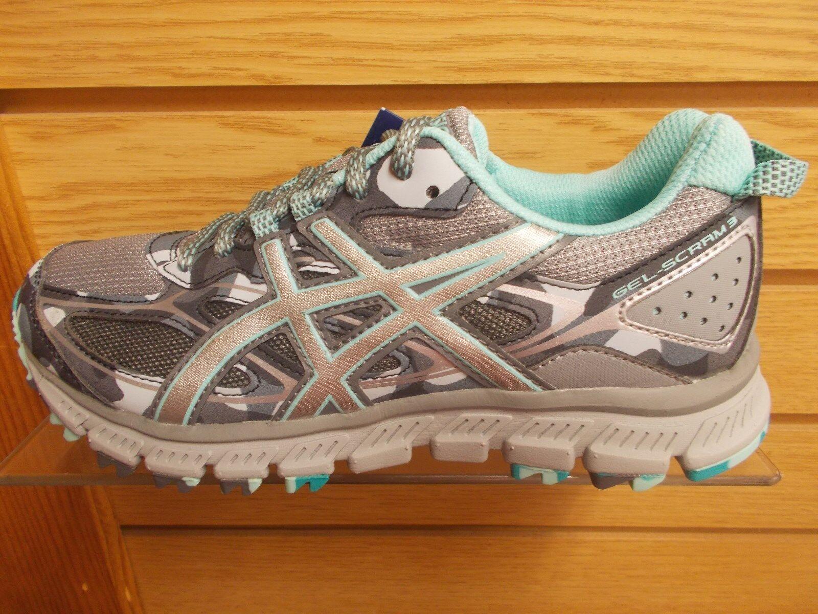 ASICS T6K7N WOMEN'S GEL SCRAM 3 GREY TRAIL RUNNING MEDIUM WIDTH  SHOE Cheap women's shoes women's shoes