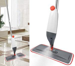 Hartboden-Spray-Mop-Wasser-Sprueh-Reiniger-Microfaser-Reinigungspad-Holz-Fliesen
