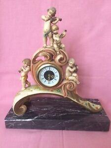 Rare Vintage Fontanini Depose Italy 1003 Cherub Mantel Clock Wind Up Collectible - Haverhill, Suffolk, United Kingdom - Rare Vintage Fontanini Depose Italy 1003 Cherub Mantel Clock Wind Up Collectible - Haverhill, Suffolk, United Kingdom