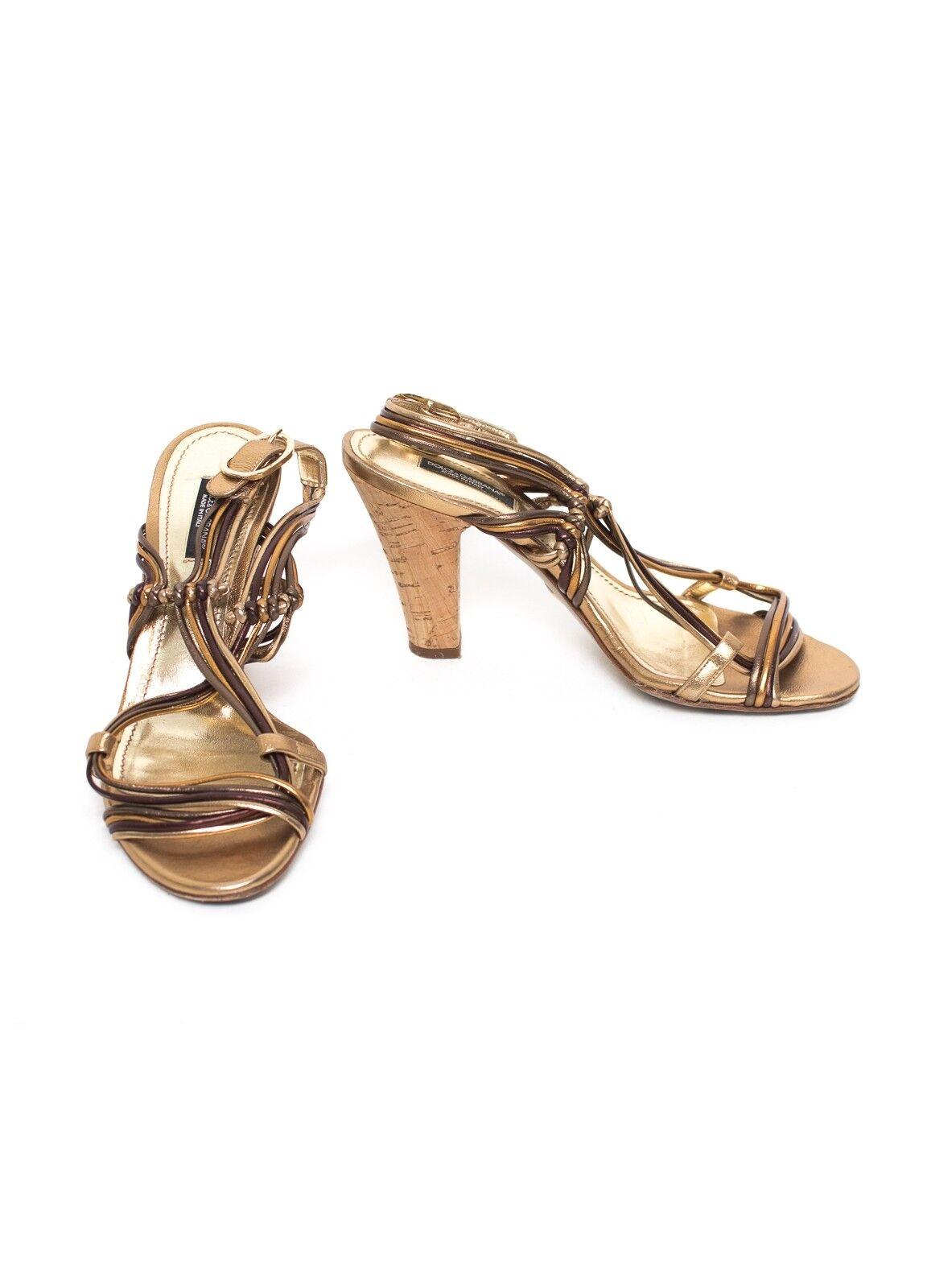 Descuento barato DOLCE & GABBANA Sandalen Gr. EU 36,5 Damen Schuhe Pumps High Heels Leder