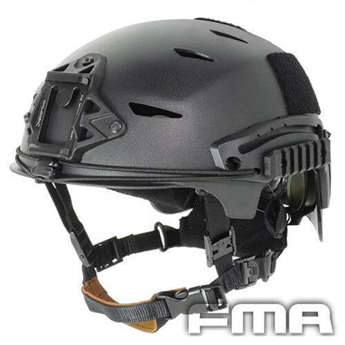 High Quality Tactical Airsoft CS Predective FMA EXF BUMP Helmet TB741-BK-M L
