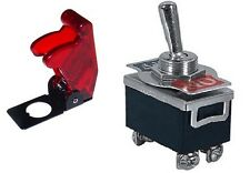 1 Pc Dpst Safety Toggle Switch 20amp125vac Withtrans Red Cover 66 180466 5018