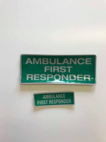 Encapsulated réfléchissant insigne 250mm set ambulance first responder slide en style
