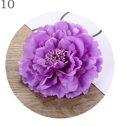 Romantic Peony Big Flowers Girls Hairpin Bobby Hair Clip Accessories Multicolor