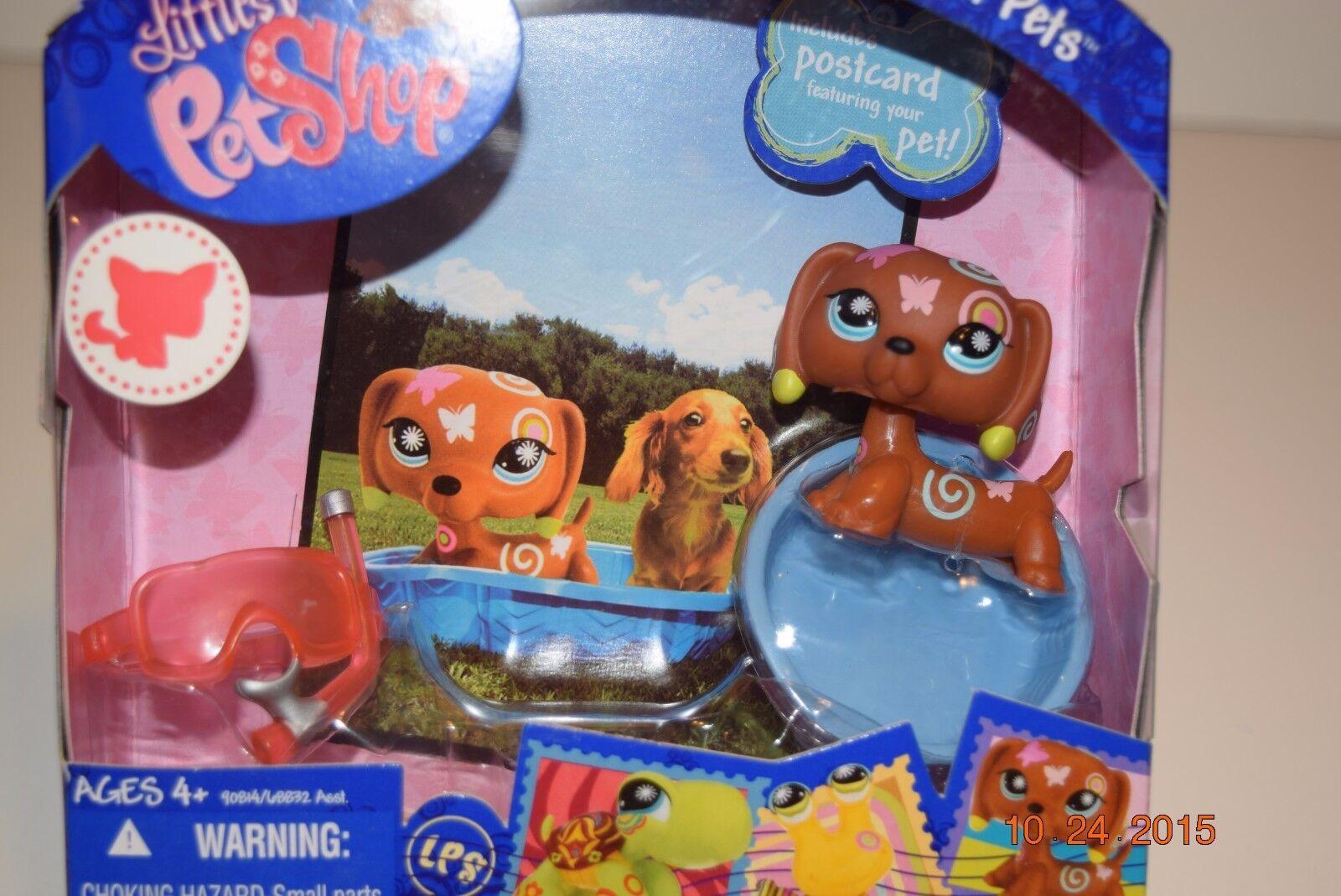 Littlest Pet Shop Postcard Pet DACHSHUND , Age 4+, HTF, VERY RARE, NIP
