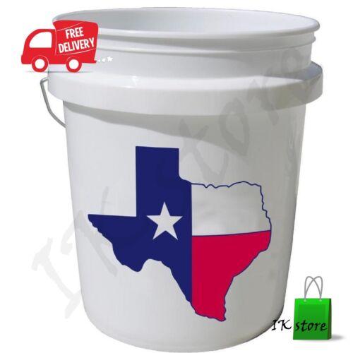 Plastique 5 Gal environ 18.93 L Commercial Qualité Alimentaire BPA Free Seau approuvé par la FDA Texas Stack