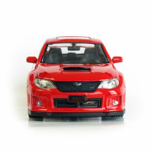 1:36 Subaru Impreza WRX STI Model Car Diecast Toy Vehicle Pull Back Red Kids