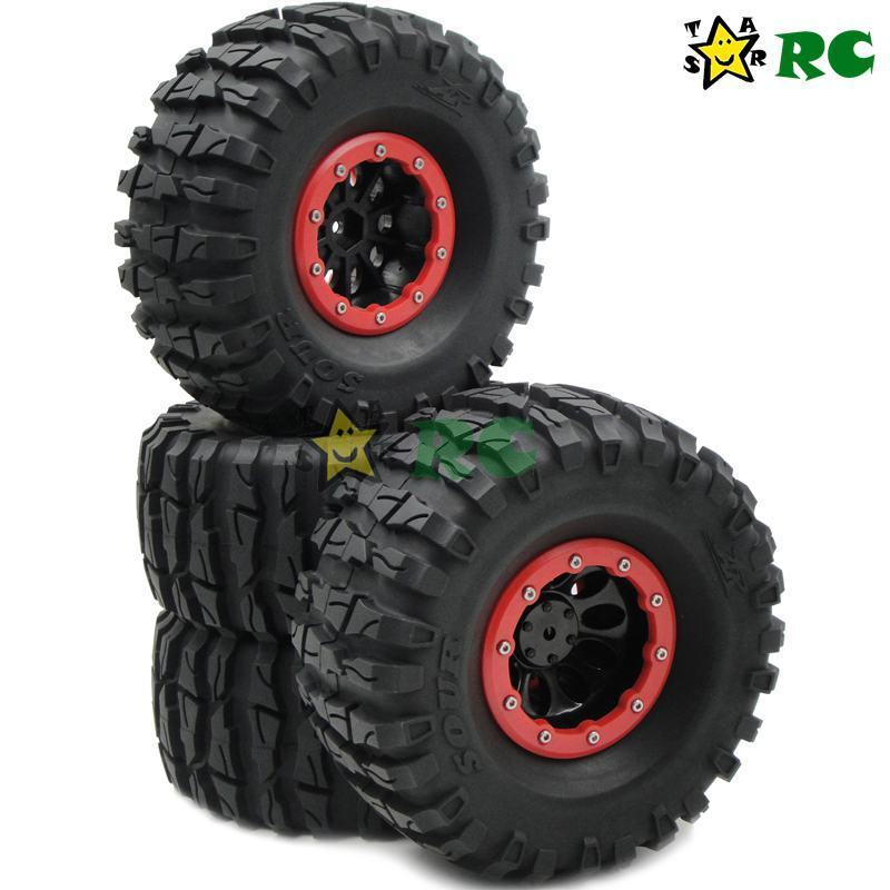 4 un. RC 2.2 mm Wheels & ar agria 135mm Crawler Neumáticos para 1 10 rc crawler