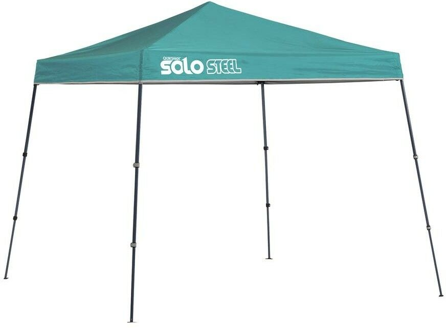 Quik Shade Pop Up Canopy Portable  Slant Leg Telescoping 9 x 9 Turquoise Outdoor  factory outlet