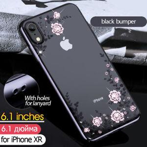 KAVARO-Floret-Swarovski-Electroplating-PC-Hard-Case-Cover-for-iPhone-XR-6-1-inch