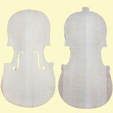 Unfinished Violin Maple BACK & Spruce TOP-For 4/4 Violin Maker -Violin Luthier