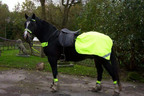 HI VIZ YELLOW FLUORESCENT HORSE QUARTER RUG FLEECE OR COTTON LINED