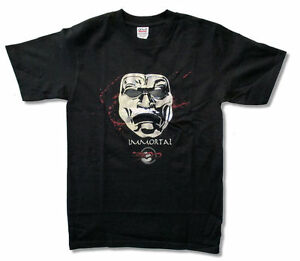 300-Movie-Immortal-Foil-Mask-Double-Swords-Black-T-Shirt-New-Official