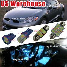 10-pc Aqua Blue LED Lights Interior Package Kit For 98-02 Mitsubishi Eclipse