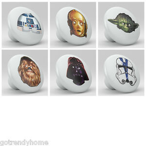 set-of-6-Starwars-Nursery-Ceramic-Knobs-Pulls-Decorated-Drawer-Dresser-1039