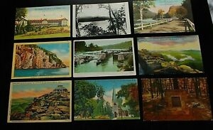 Albany-Adirondacks-New-York-Lot-of-33-Vintage-Postcards-Erie-Canal-Motels
