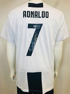 best website 69471 ae946 Details about Cristiano Ronaldo Signed Juventus Serie A Italian Soccer  Jersey - BAS Beckett