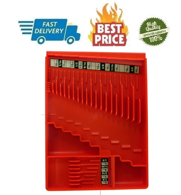 Tool Box Craftsman Slide-Flip-Store Chest Wrench Rack Tray Rail Organizer Red