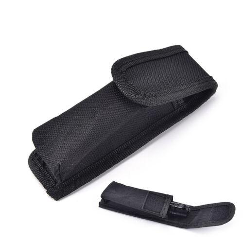 Schwarz Nylon Taschenlampe Tasche Taschenlampe Holster Torch Pouch GürteRSDE