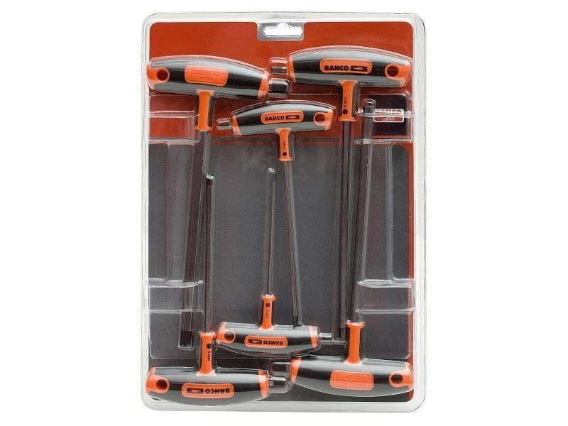 Bahco 6 Piece T Handle Hex Key Set Metric 3mm to 10mm 903T-1