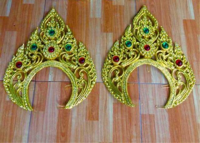 Traditional Thai crown piece accessories for dance,Beauty pageant and Wedding