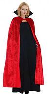 Mens Ladies Long Cape Cloak Medieval Vampire Fancy Dress Halloween Costume NEW