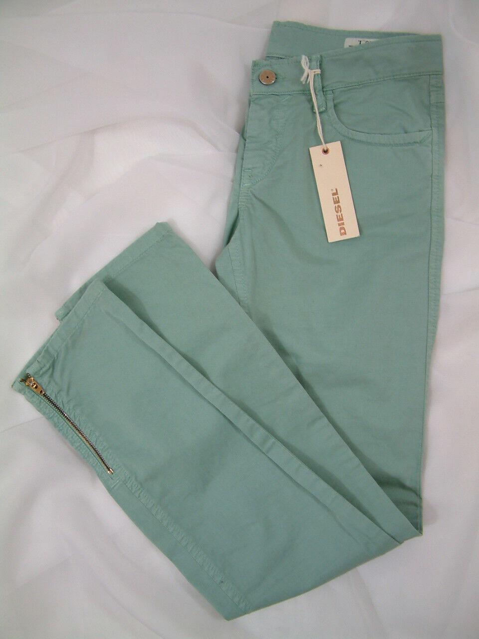 Diesel Jeans Hose Stretch Jeans ZIVY PANTALONI  Mintgrün Größe W26 L NEU