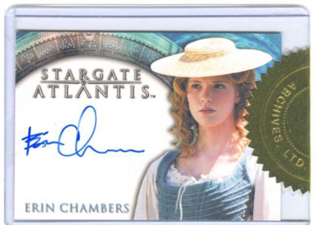 Stargate Atlantis Season 1 Case Autograph Auto Erin Chambers Collectibles Trading Card Singles