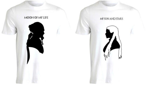 Lune de ma vie sun /& stars khal /& khaleesi st-valentin couple t-shirt tee AF75