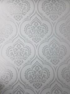Fine Decor Damask Wallpaper Glitter