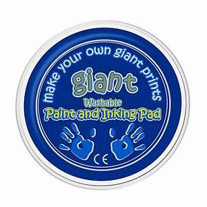 Giant-Blue-Paint-Pad-15cm-Hand-Palm-Printing-Stamping-Arts-amp-Crafts