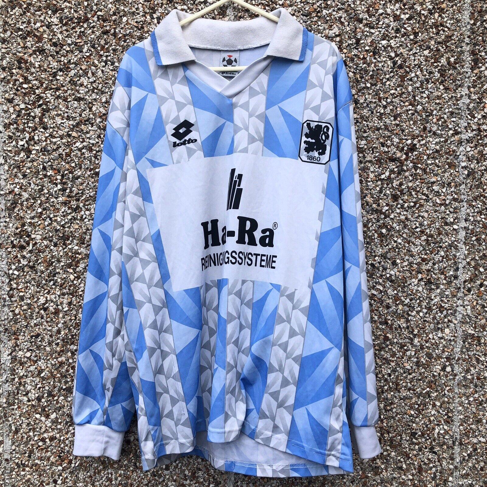 TSV 1860 Monaco di Baviera Camicia a uomoiche lunghe da calcio 1993 1994 LOTTO SOCCER JERSEYM