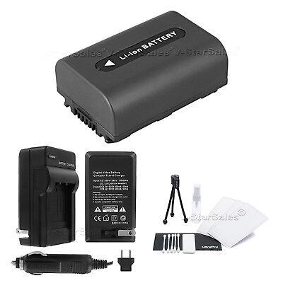 2x Li-Ion Batería Para NP-FH50 Sony DCR-DVD610 DCR-DVD650 DCR-DVD708 DCR-DVD710